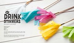 DIY Drink Stirrers! Perfect for your Iced Tea.