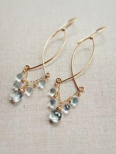 Love these aquamarine chandeliers!