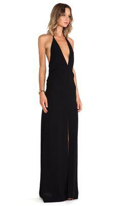 SOLACE London Piaggi Maxi Dress in Black   REVOLVE