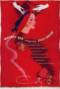 Lily Daché. Red inspiration