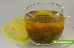 Green tea with Lemon - helps to keep the skin looking/feeling young.    Drink a few times a week.