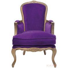 """Кресло """"Дедушкино кресло"""" (Grandfather), серия """"Вилла"""" (Villa), цв: фиолетовый,"""
