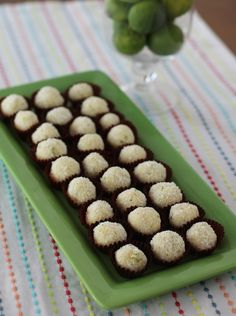 Food Lust People Love: Gin Lime Coconut Truffles #GalentinesDay