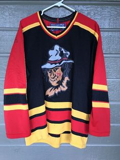 Topeka Scarecrows Ice Hockey Jersey Autographed Bauer Medium Coombs Motley #AthleticKnits #TopekaScarecrows