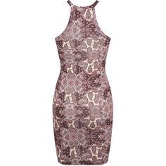 Miss Selfridge Paisley 90's Mini Dress ($38) ❤ liked on Polyvore