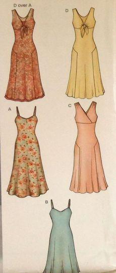 Summer Dress Sewing Pattern UNCUT New Look 6244 Sizes 8-18 sleeveless spaghetti strap