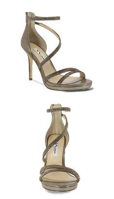 Sparkly Shoes, Prom Shoes, Nina Shoes, Skylight, Platform Pumps, Campaign, Bronze, Glamour, Detail