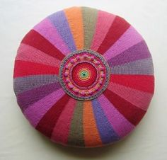 Ravelry: Kaleidoscope Circle Cushion Cover pattern by Jane Crowfoot