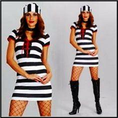 PRISON BLUES ADULT FANCY DRESS COSTUME  S-M