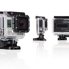 Go Pro Hero3, and a set of extra batteries. Can be attached on the boat or your helmet.