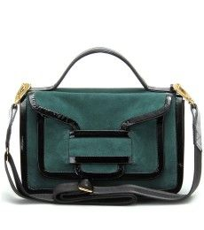 Pierre Hardy SUEDE SHOULDER BAG WITH PATENT LEATHER TRIM-SUEDE SHOULDER BAG  WITH PATENT LEATHER 428c411aaf66b