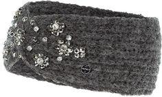 Pin for Later: Diese Kopfbedeckung ist alles was ihr braucht um stylisch durch diesen Winter zu kommen  Esprit Ohrenwärmer in Anthrazit mit Bestickungen (23 €)