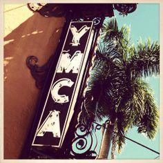Historic YMCA Sign St. Petersburg Florida Photo by gregfrancis, $15.00 St Petersburg Florida, Village People, Bright Lights, Vintage Signs, Signage, Neon, Ink, Prints, Etsy