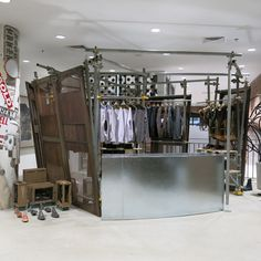Dover Street Market fashion store New York Scaffoldings, recycle, create