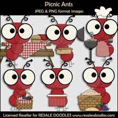 Scrappin Doodles Clip Art - Cute Graphics for Teacher Resources School Projects, Craft Projects, Projects To Try, Picnic Theme, Birthday Charts, Picnic Quilt, Quilt Border, Cute Clipart, Paper Piecing
