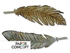 Wykrojnik i Folder - Bigz - Feather Duo, pióra - 5441871028 - oficjalne archiwum Allegro My Folder, Feather, Feathers, Fur