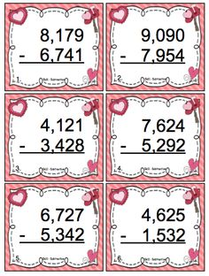 Valentine's Day Math Games and Centers 3rd Grade $