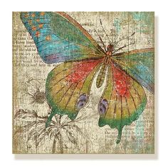 Butterfly Wooden Wall Panel