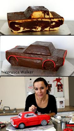 Ford Mustang Car by Verusca Walker I so wish I could make this but idk if I could eat it when I was done