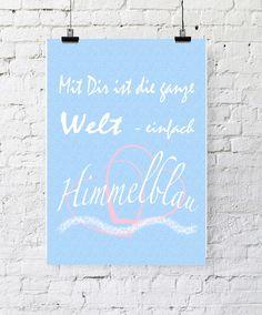 JanuarKristall Kunstdruck Poster Liebe von PapierMond auf DaWanda.com