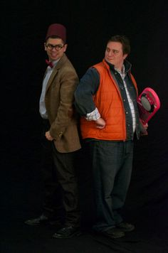 I have no idea what these two accomplished but the Doctor and Marty McFly are together