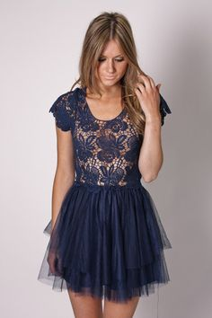 navy lace... love