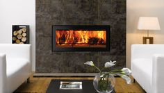 Wood burning in a modern setting - Stovax & Gazco Log Burner Fireplace, Wood Fireplace, Fireplaces, Modern Wood Burning Stoves, Living Room Designs, New Homes, Lounge, Architecture, Modern Houses