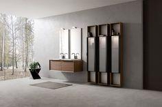 Da Compab, collezione di mobili da bagno componibili K25, in molteplici finiture e colori. A Roma da Realprogetti sas Work Tops, Drawer Fronts, Bathroom, Elegant, Luxury, House, Profile, Inspiration, Cabinet