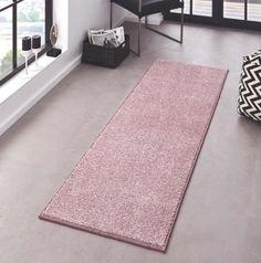 Kusový koberec Pure 102617 Rosa nabízí velmi pěkné a netradiční barevné provedení v podobě světle růžové, která zjemní a zpříjemní atmosféru Vašeho interiéru.  👉Kusový koberec Pure 102617 Rosa👈   #koberec #mujkoberec #obyvacipokoj #design #interier #detskypokoj #loznice Hall Runner, Pink Carpet, Pink Rug, Modern Rugs, Home Collections, Decoration, Kids Rugs, Pure Products, Design