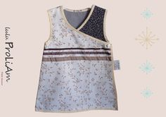 Robe bébé trapèze, chasuble, cache cœur, portefeuille, croisée ♥ 6/24 mois, robe tendance et moderne : Mode Bébé par lulu-proliam
