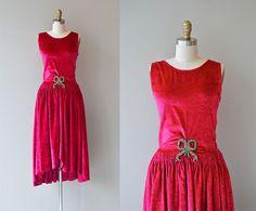 Bonjour Paris dress  1920s silk velvet dress  por DearGolden