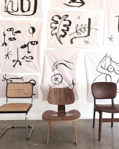 Obsessions = Line drawings & mid century chairs.