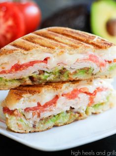 Best Recipes: Turkey, Bacon, and Avocado Panini--I tried this and it was awesome!