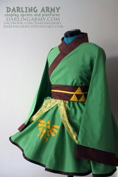 Link - Legend of Zelda - Cosplay Kimono Dress by DarlingArmy. on deviantart.com | Nintendo NES