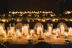 There is nothing more dramatic and romantic for you and your guests than walking into a room filled with flickering light. - Ultimate Guide To Wedding Planning   Bridal Musings Wedding Blog