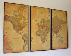 I have to make this. I've been wanting to buy and hang a world map as a reminder of the Great Commission to all nations!