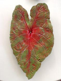 Caladium Concrete Leaf Casting.