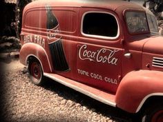 """Vintage Trucks Classic Coca-cola AWESOME SO VERY AWESOME! My dad drove a """"panel truck"""" very like this when I was a kid. We'd ride the running boards from the corner to our house. Those were the days! Vintage Coca Cola, Volkswagen, Vw T1, Etiquette Vintage, Always Coca Cola, Auto Retro, Panel Truck, Pt Cruiser, Photo Vintage"""