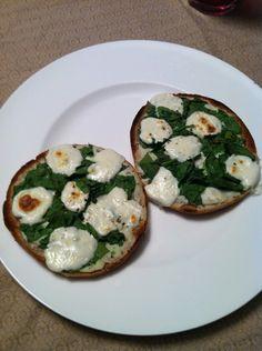 Spinach + Ricotta Mini Pizzas