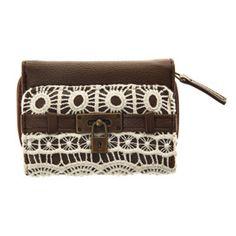 Brown Crochet Purse - 12.99 euros