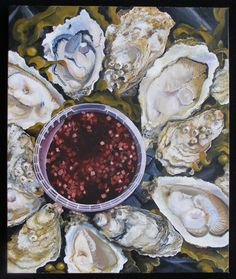 """""""Mignonette Sauce""""  Painted from a magazine picture. Oil on canvas."""