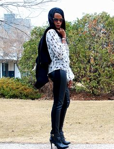 New blog post featuring quilted faux leather leggings by #nygardslims #legging #ootd See more @ stylemydreams.wordpress.com