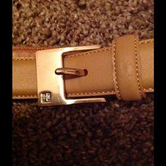RALPH LAUREN BELT Tan with gold, in excellent condition. Ralph Lauren Accessories Belts