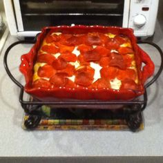 My version of Pizza Casserole...I think mine turned out prettier than the original pic!