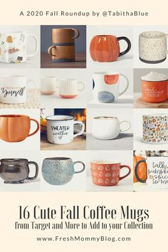 16 Cute Fall Coffee Mugs from Target and More to Add to your Collection from Tabitha Blue of Fresh Mommy Blog Cute Coffee Mugs, Hot Coffee, Coffee Cups, Morning Drinks, Coffee Accessories, Autumn Coffee, Cute Cups, Best Essential Oils, Fall Home Decor