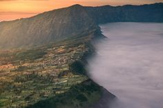 Morning light is coming to Cemoro Lawang, the village nearby Mt.Bromo