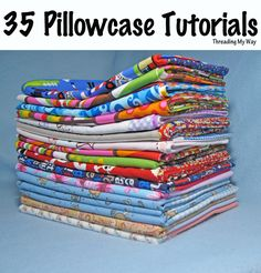 35 FREE pillowcase tutorials from around the world - Australia, US, UK, Canada ~ Threading My Way