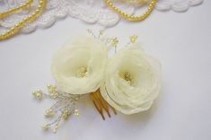 Floral Hair Combs Handmade Bridal Fascinator  by GingiBeads
