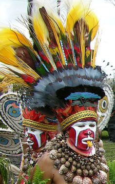 Papua New Guinea tribal headdress