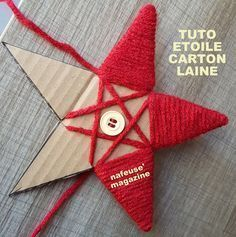 Tutorial make a Christmas star with cardboard and wool. An idea created . - Tutorial make a Christmas star with cardboard and wool. An idea created . Diy Christmas Ornaments, Homemade Christmas, Christmas Projects, Crafts To Sell, Holiday Crafts, Christmas Time, Diy And Crafts, Christmas Decorations, Holiday Decor